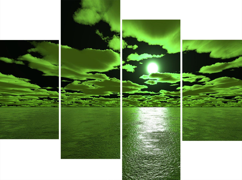 3 Abstract Canvas ...  sc 1 st  Elitflat & Wall Art For Green Walls - Elitflat