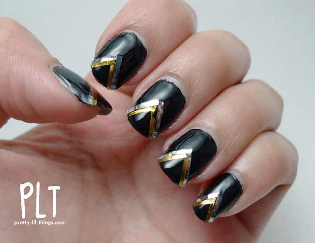 Black And Silver Nail Designs 14 Background