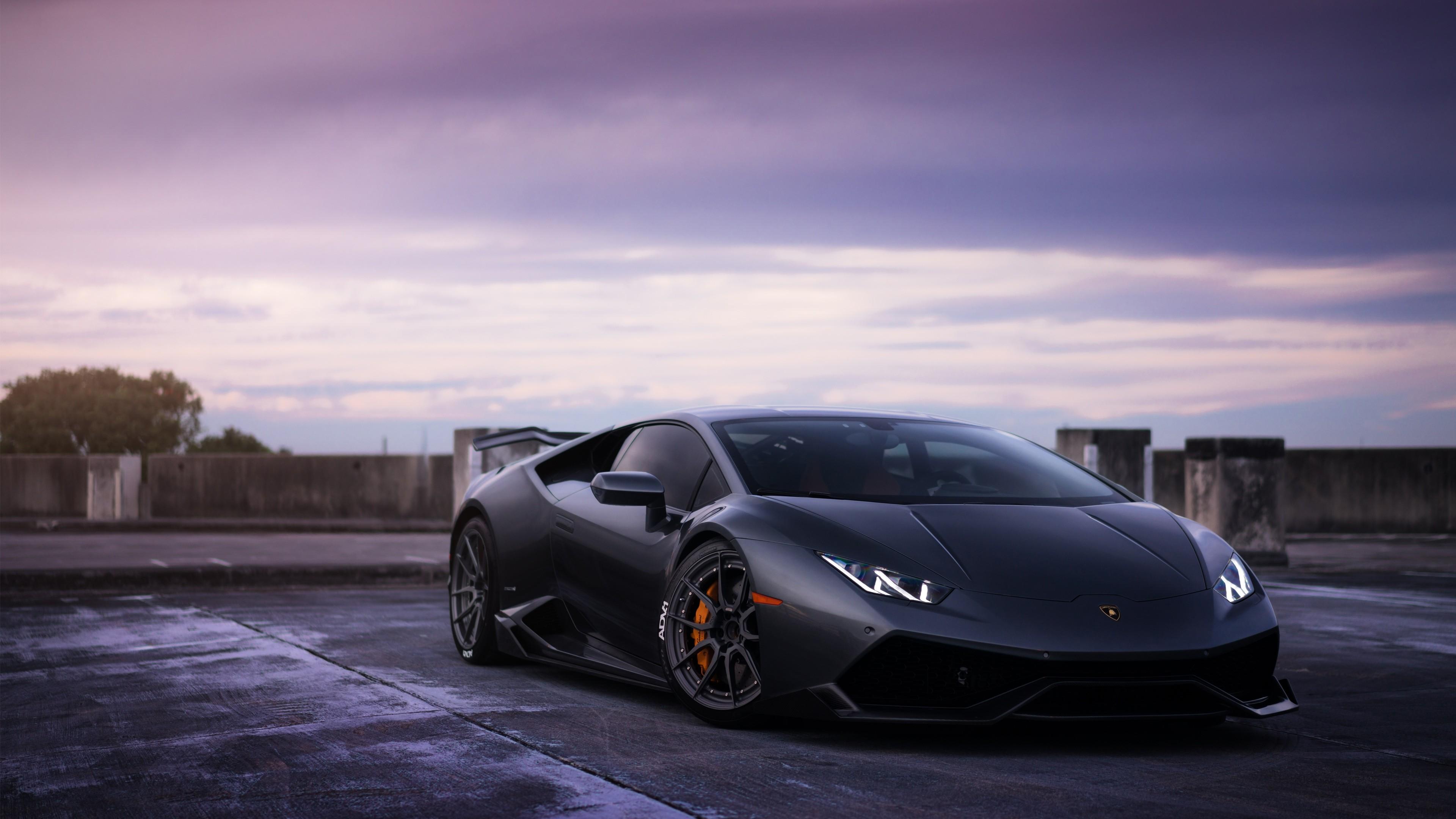 Lamborghini Huracan On Adv1 Wheels 3 Wallpaper  Hd Car
