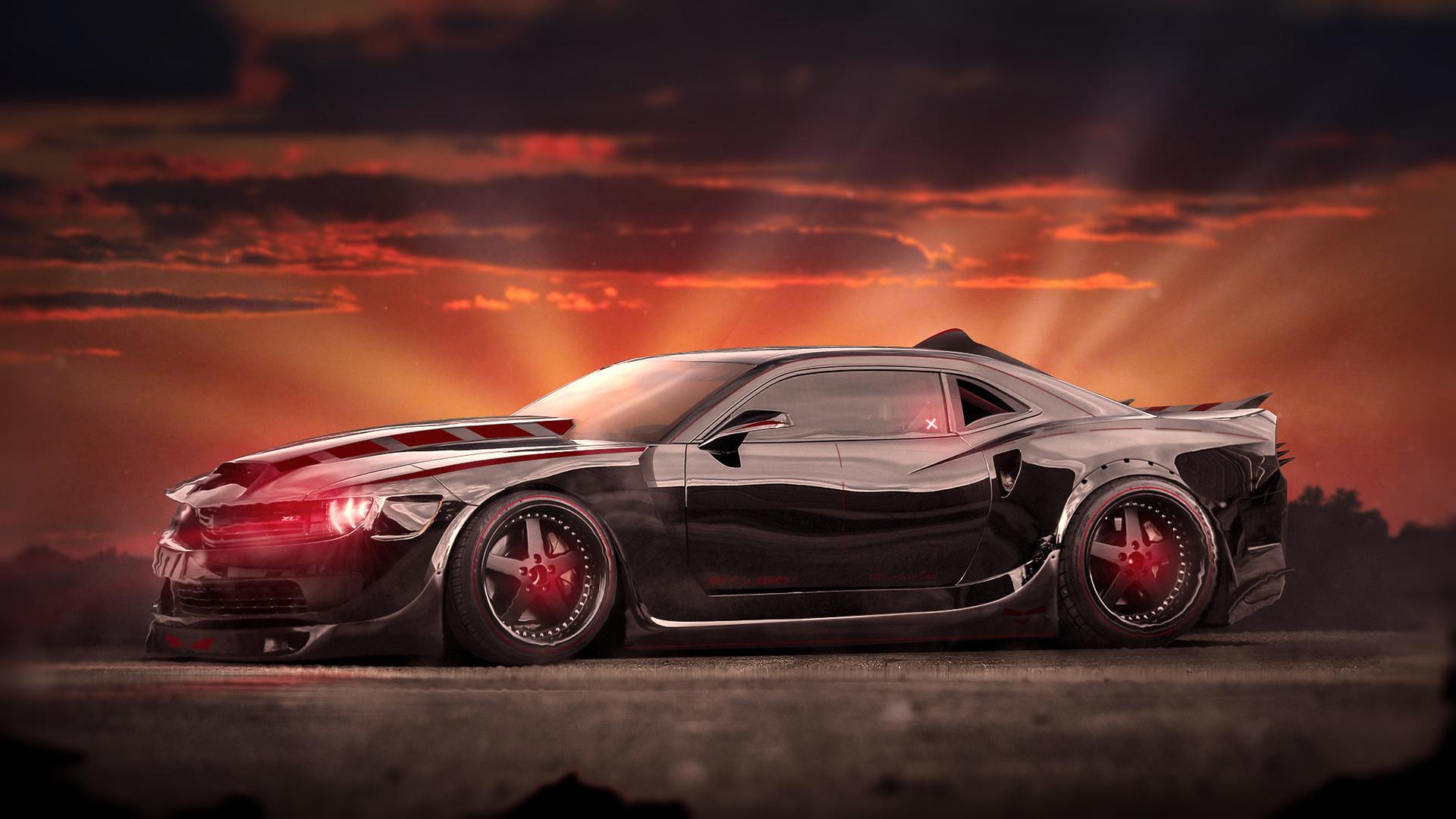 Evil Chevrolet Camaro Muscle Car Wallpaper  Hd Car