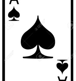 ace of spades playing card stock vector 50155631 [ 887 x 1300 Pixel ]