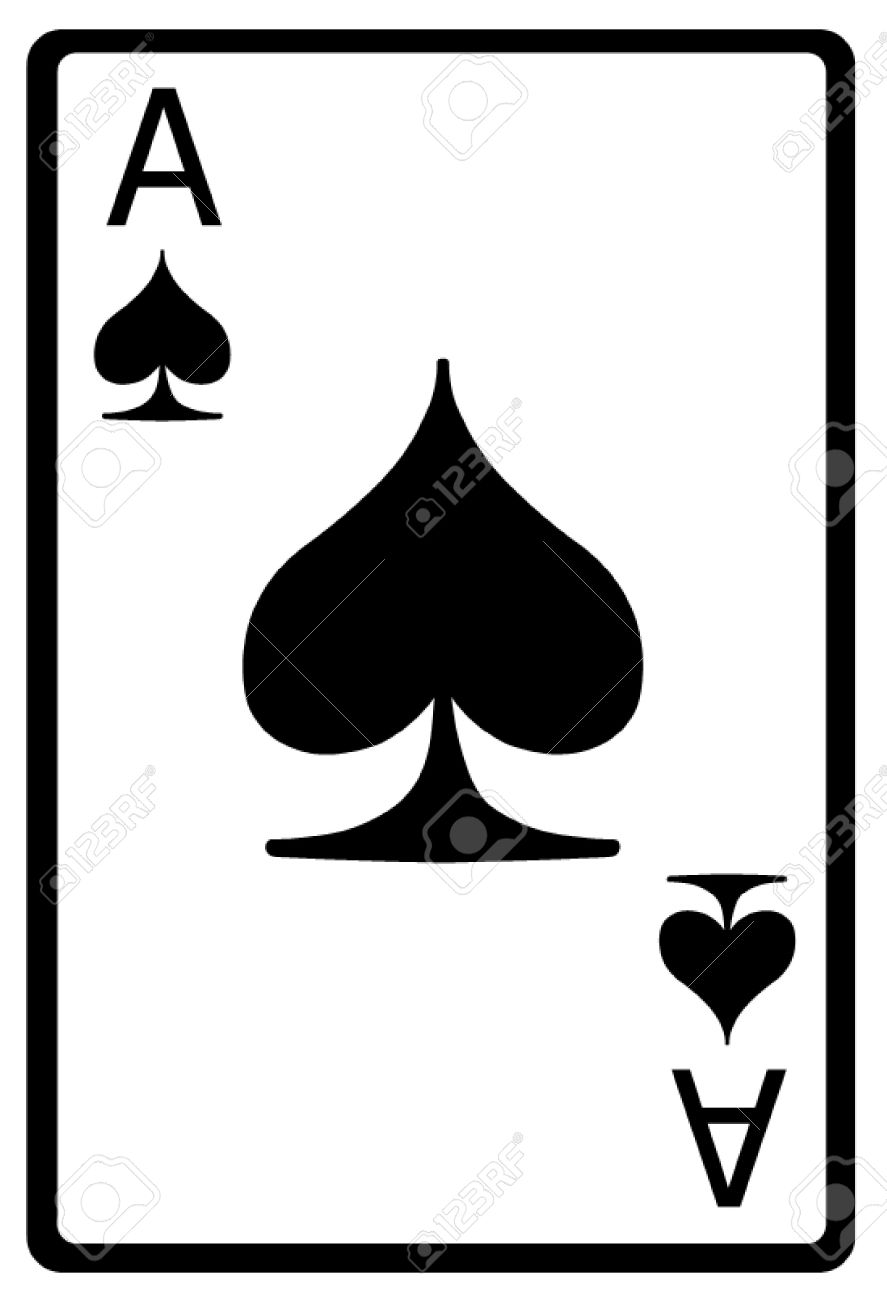 hight resolution of ace of spades playing card stock vector 50155631