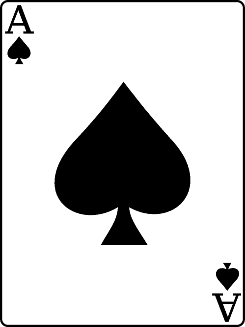 small resolution of cards clipart ace spades 3
