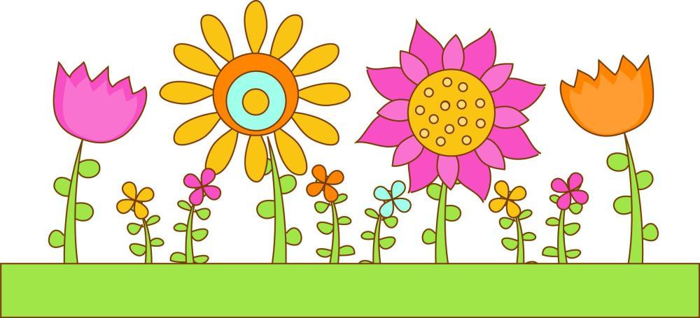 medium resolution of flower garden royalty free stock ilrations
