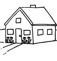 house black and white house clipart black and white 5 [ 1600 x 1078 Pixel ]