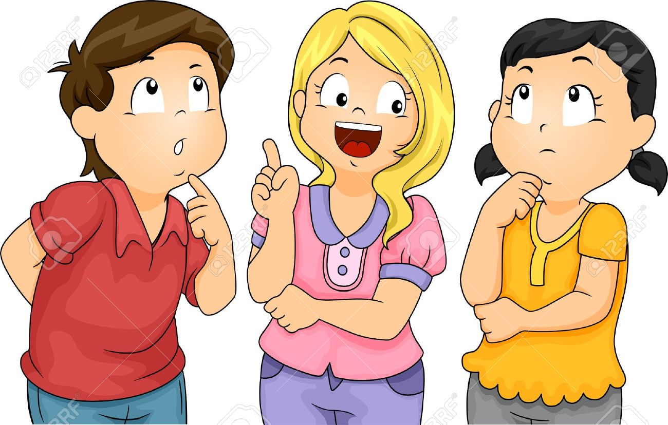 hight resolution of kids thinking clipart 10