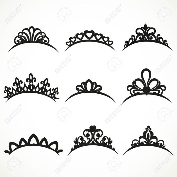 9 Tiara Clipart Preview Set Of Silhouette HDClipartAll