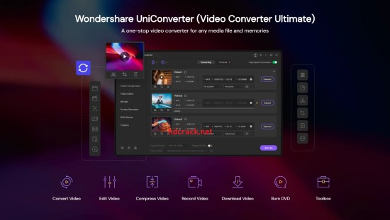 Wondershare UniConverter Full Crack