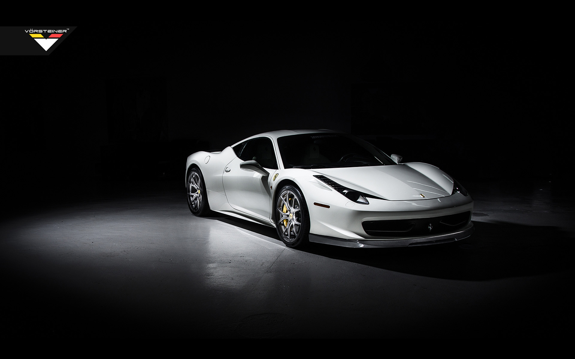 Ferrari 458 Italia White Wide - HD Desktop Wallpapers