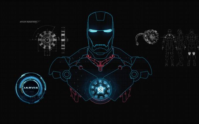 Cute Holographic Wallpapers Iron Man Wallpaper Jarvis Blue Hd Desktop Wallpapers 4k Hd