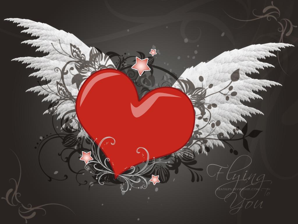 3d Broken Hearts Wallpaper Love Wallpaper Wings Hd Desktop Wallpapers 4k Hd