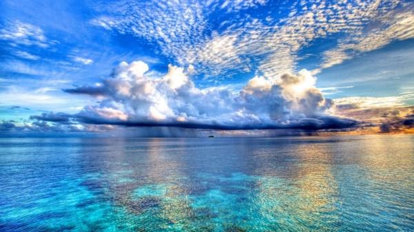 ocean wallpaper clouds HD Desktop Wallpapers 4k HD