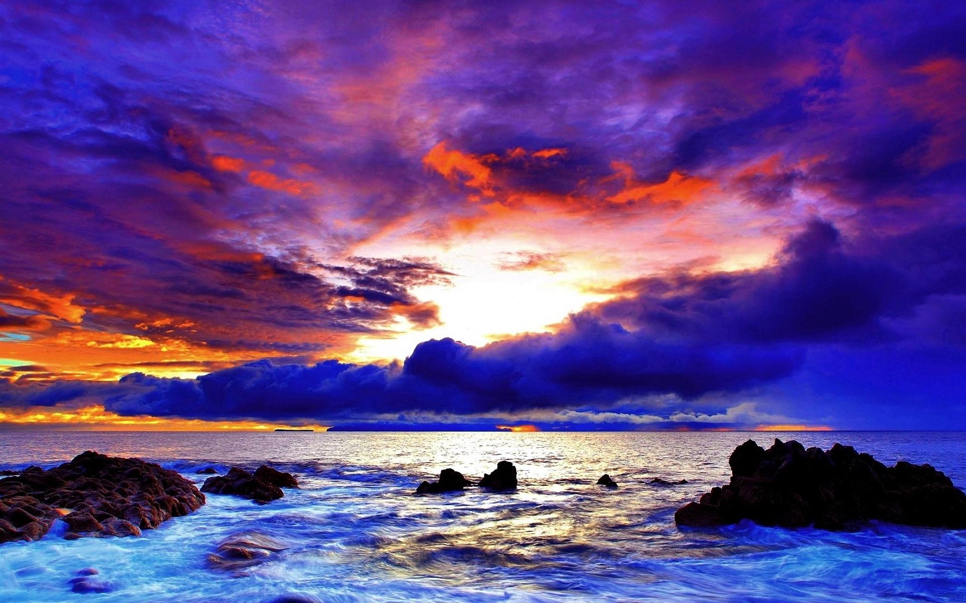 sunset images purple beach  HD Desktop Wallpapers  4k HD