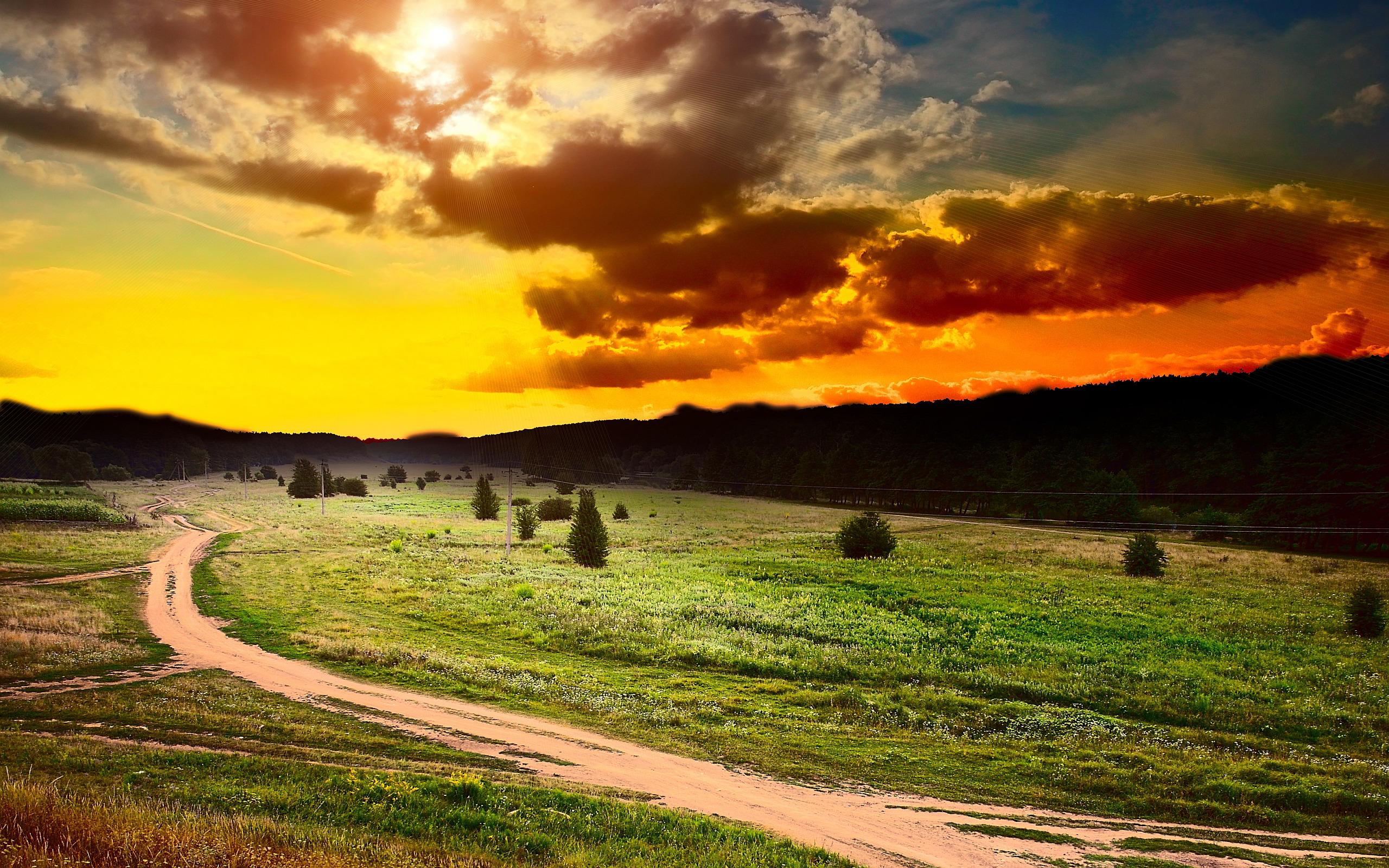 Sunset Pictures Landscape  Hd Desktop Wallpapers  4k Hd