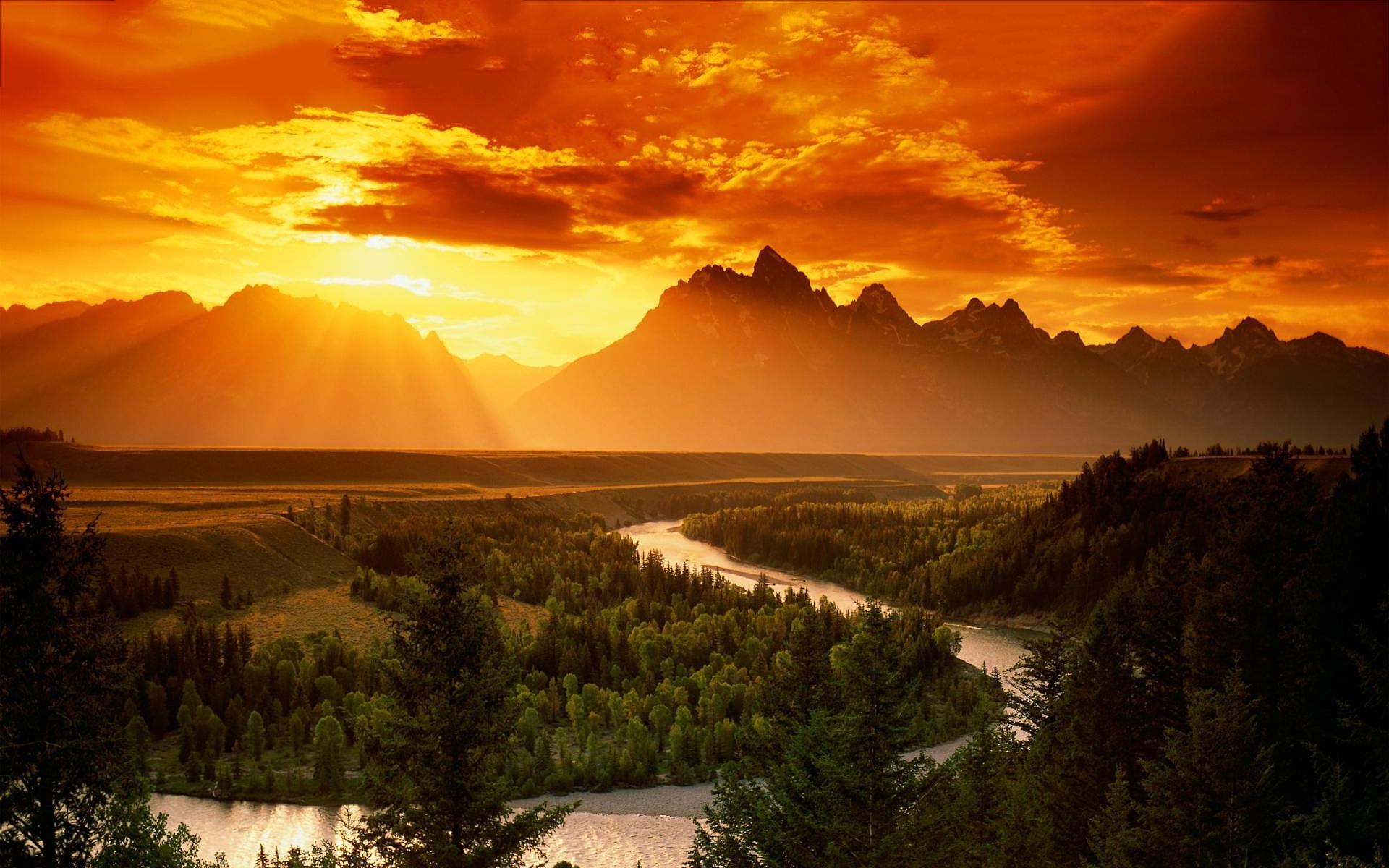 Sunset Wallpapers Landscape  Hd Desktop Wallpapers  4k Hd