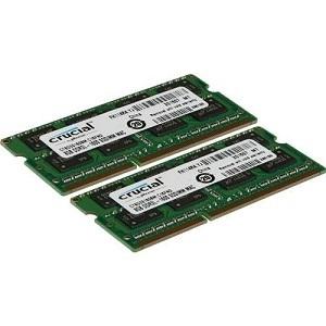 Crucial 16GB Kit (8GBx2) DDR3/DDR3L-1600 MHz (PC3-12800) CL11 204-Pin SODIMM Memory for Mac CT2K8G3S160BM / CT2C8G3S160BM review