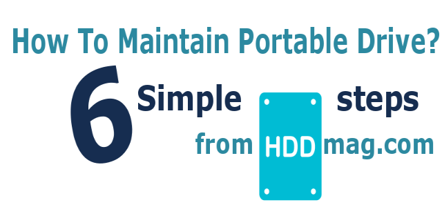 How to maintaint your portable external hard drive