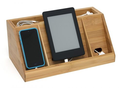 Lipper International 812 Bamboo Charging Station (Large)
