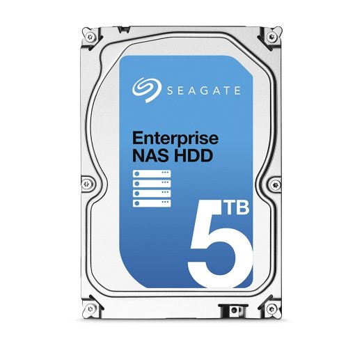 Seagate 5TB Enterprise NAS HDD SATA 6Gb/s 128MB Cache 3.5-Inch Internal Bare Drive (ST5000VN0001)