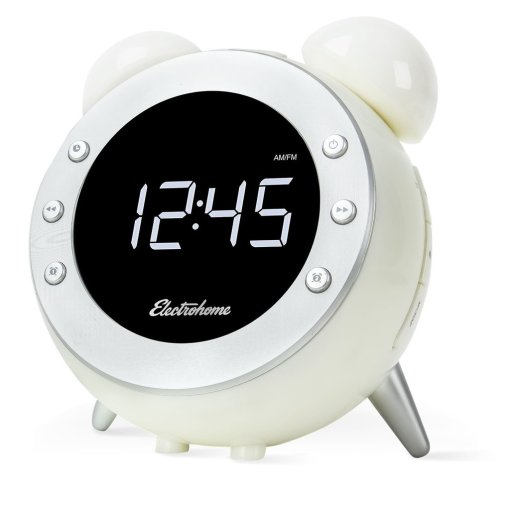 Electrohome Retro Alarm Clock Radio (CR35W)