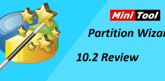 MiniTool Partiton Wizard 10.2 latest version review, best freeware for partitions, free partition software