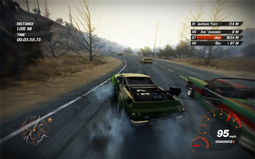 Fuel Xbox 360 gameplay