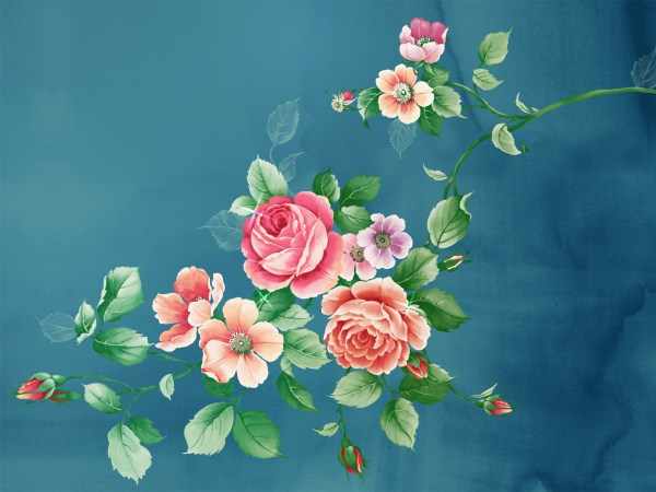 Chinese Flower Art Paintings
