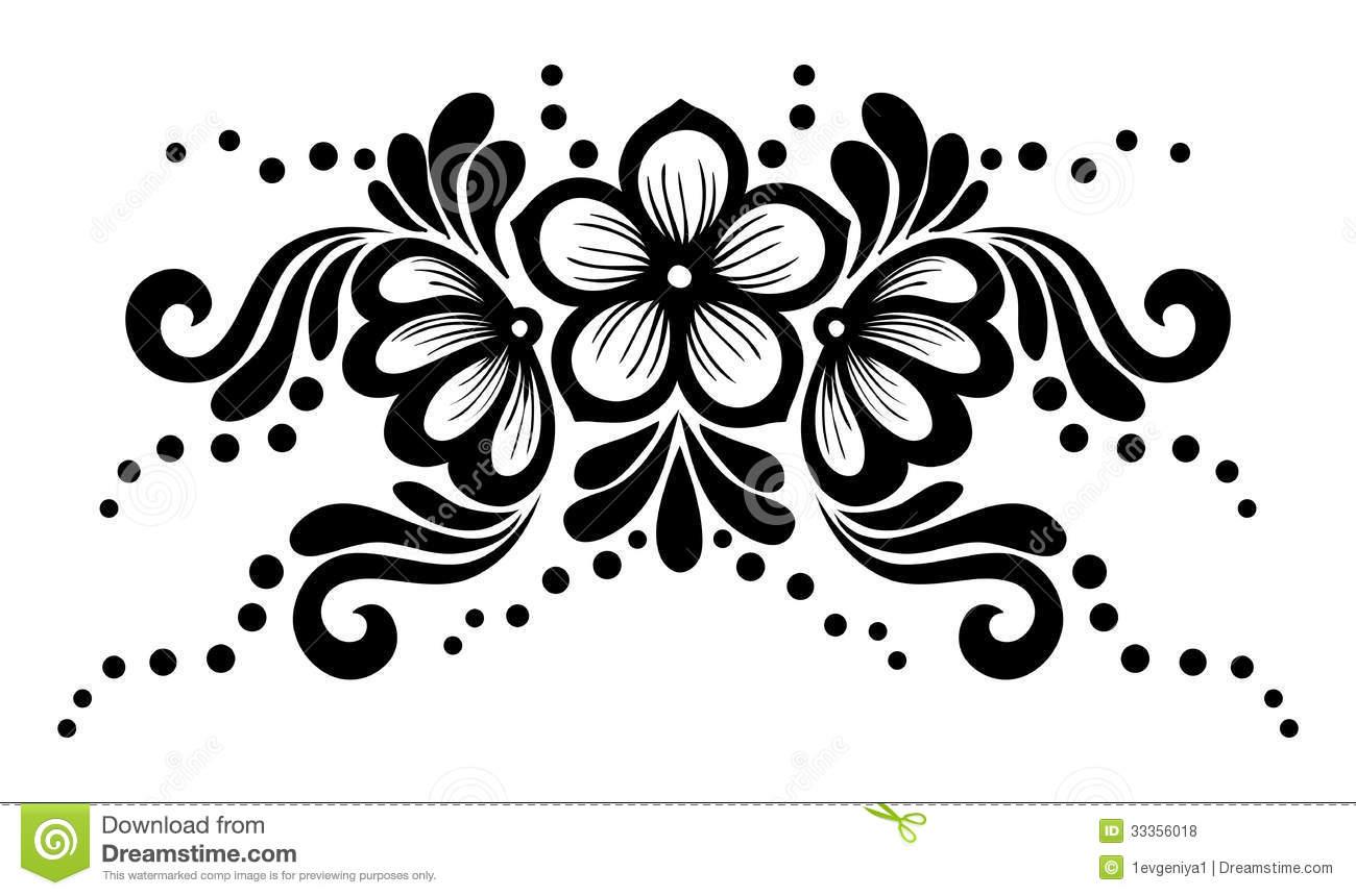 Black Flower Design 13 Free Wallpaper