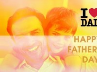 fathers day images with father background