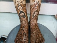 Easy-Legs-Henna-Designs-Ideas for Eid