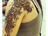 floral arm and shoulder mehndi design