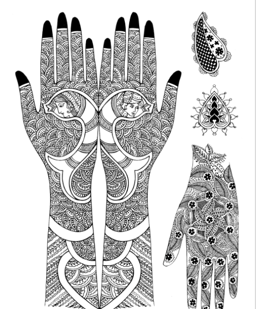 front hand full arms mehndi designs