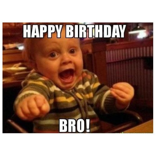 happy birthday bro by cute baby