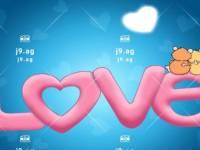 happy birthday by black and white dog