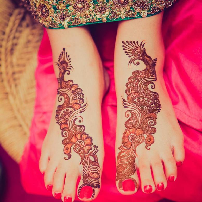 Peacock-floral-Feet-Mehendi-Design-Idea