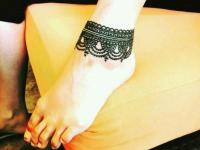 ankle mehndi designs for arabic lover