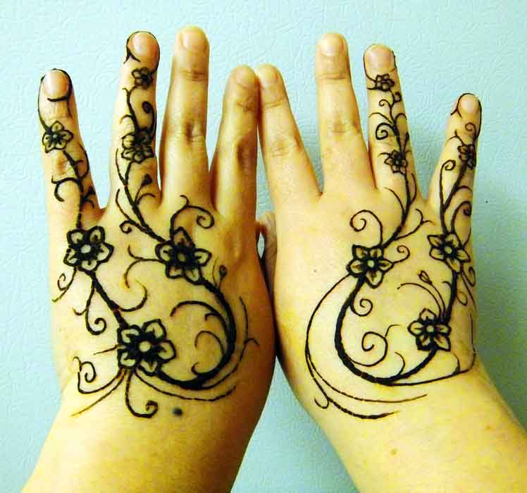 cute Floral-mehndi design Vines for kids