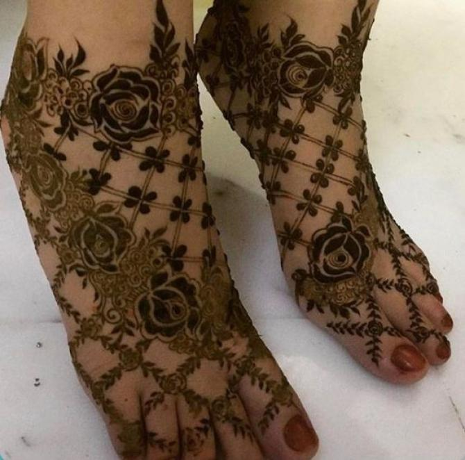 most amazing foot henna design full set