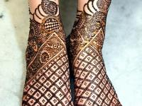 only foot mehndi designs for bridel set