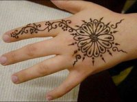 simple-motif-back-hand-mehndi-designs for Baby Girl