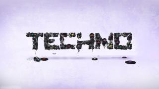 techno logo wallpaper