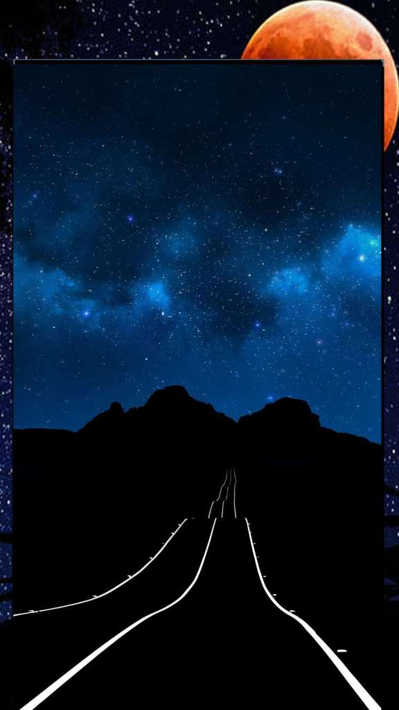 black road and blue sky amazing wallpaper
