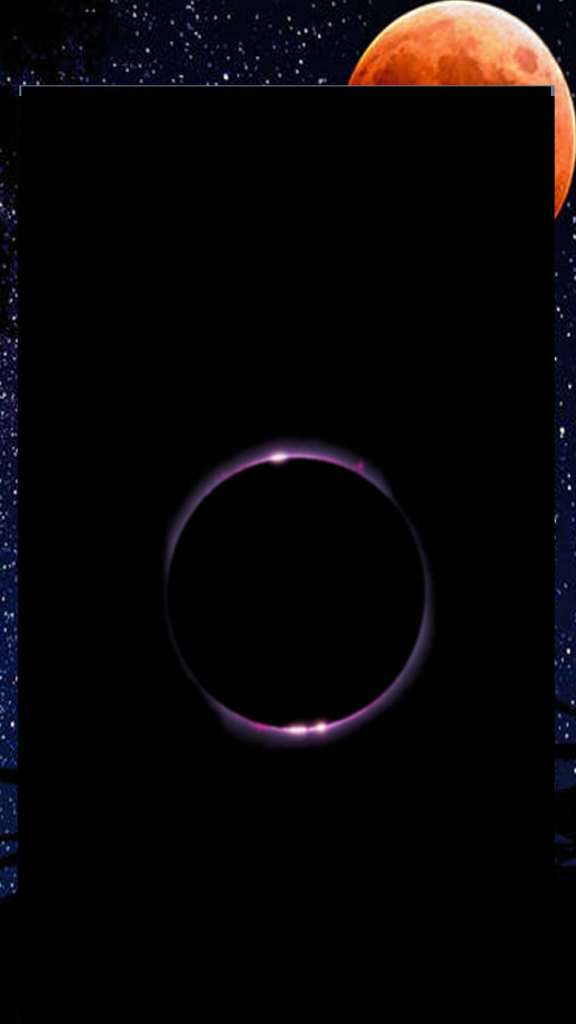 gold ring inside black image for background mobile