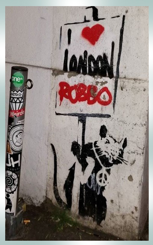 Banksy shredded mobile size i love London