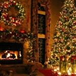Hd Hintergrundbilder Zimmer Weihnachten Fichte Kamin Girlande Feier Desktop Hintergrund