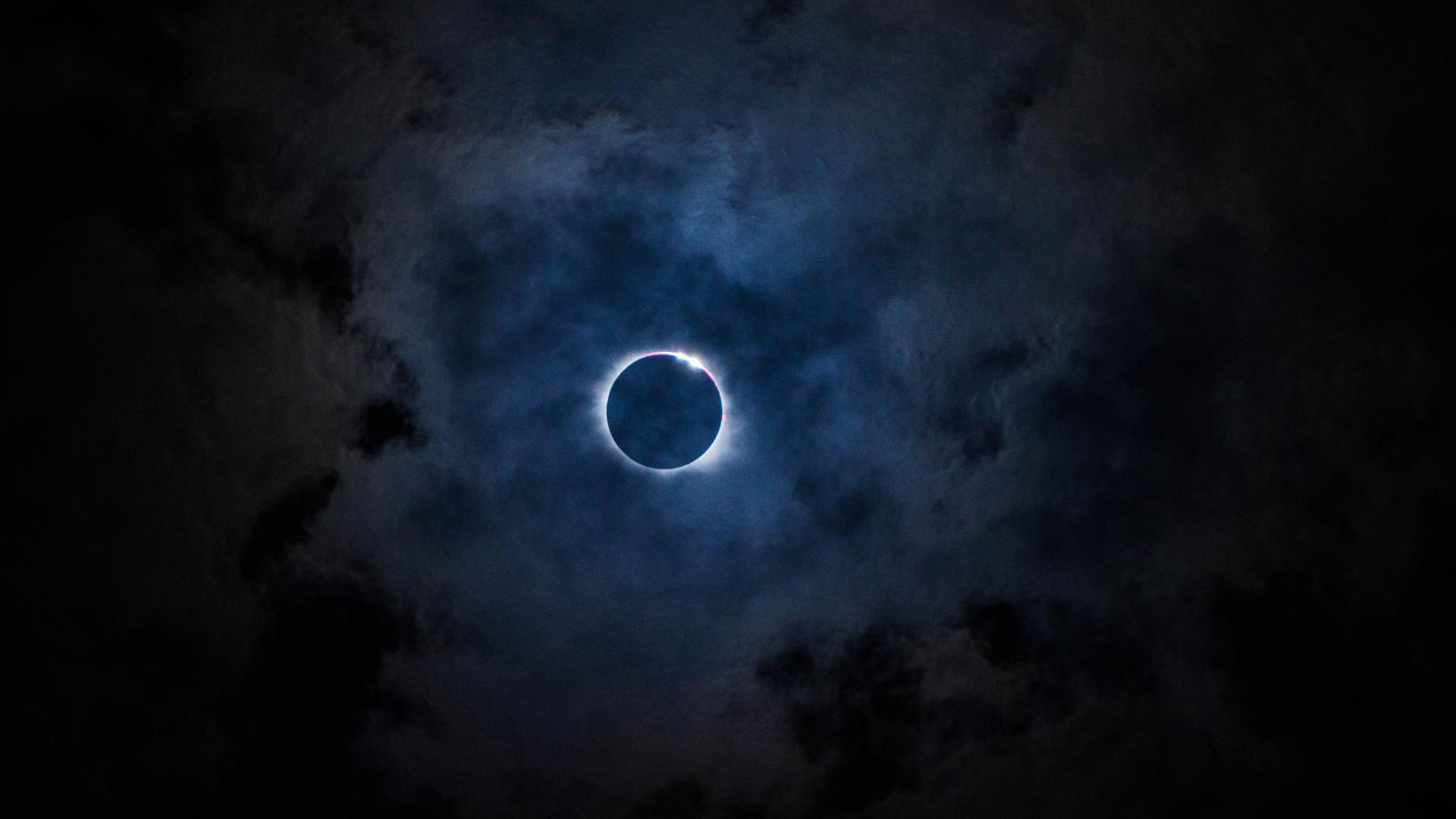 Dark Wallpaper Anime Hd Hintergrundbilder Mond Eklipse Wolken Himmel Desktop