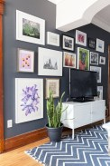 41 DIY TV Gallery Wall Inspirations & How Tos 38
