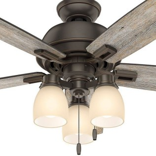 44 Bennett 5 Blade Ceiling Fan With Remote, Light Kit Included 1