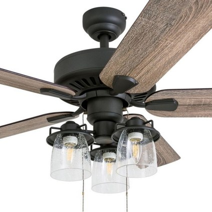 44 Bennett 5 Blade Ceiling Fan With Remote, Light Kit Included 21