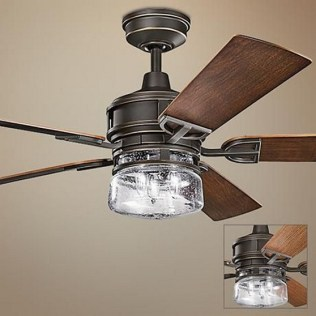 44 Bennett 5 Blade Ceiling Fan With Remote, Light Kit Included 44